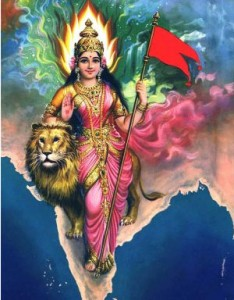 similarity between the picture of Goddess britannia and Bharatmata says the story of great migration