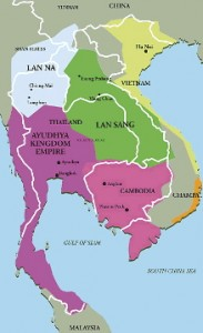 Ayutthaya kingdom map