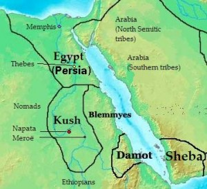 Ancient kush kingdom in sudan