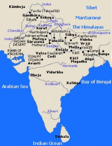 Ancient map of Bharatvarsha