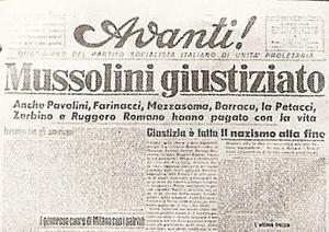 Avanti -newspaper of Socialist party of Italy.