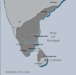 Pandyan kingdom map