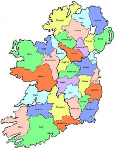 Count map -Ireland