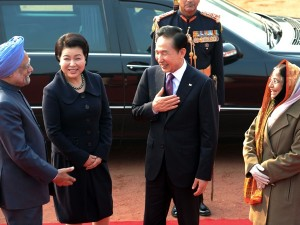 s.korea president in India