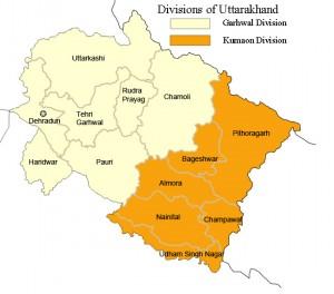 Kumaon Garhwal map